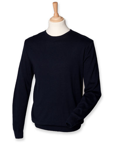 Henbury Lightweight Crew Neck Jumper mit Druck